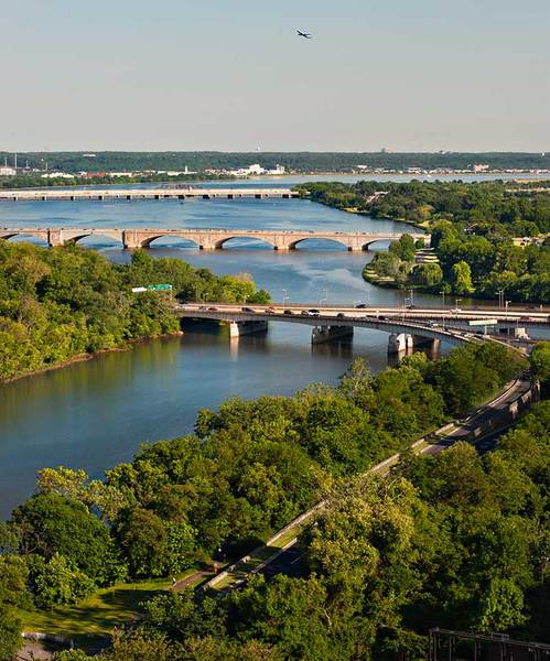 Roosevelt, Memorial, and 14th Street Bridges, Washington DC
